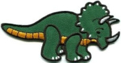 Triceratops Cretaceous Dinosaur Lizard Kids Fun Applique Iron-on Patch New S-576 Cute Gift to Your Cloth.