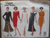 Vogue Basic Design Pattern 1173 Misses' Top and Skirt Sizes 18-20-22
