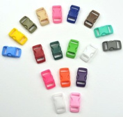 Cosmos ® 180 PCS 1cm 18 Colours (10 Each) Economy Contoured Side Release Plastic Buckles with Cosmos Fastening Strap