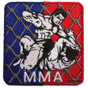 AWMA Mixed Martial Square Cage MMA Patch
