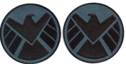 AVENGERS Movie SHIELD Logo Costume Shoulder Patch Set of 2