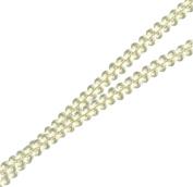 Venus Ribbon 0.5cm Rayon Star Braid, Dyeable White, 5 Yards
