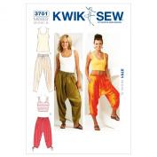 Kwik Sew K3701 Pants and Tops Sewing Pattern, Size XS-S-M-L-XL