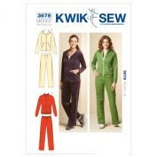 Kwik Sew K3678 Jackets and Pants Sewing Pattern, Size XS-S-M-L-XL