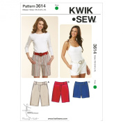 Kwik Sew K3614 Fitted Shorts Sewing Pattern, Size XS-S-M-L-XL
