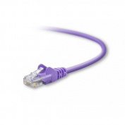 BELKIN cat5e 10ft purple rj45m/m patch cable w/snagless boot