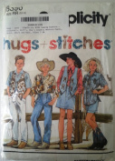 Simplicity 8396 Sewing Pattern ~ Children's, Girl's, Boy's Country Western Pants, Skirt, Shirt and Vest, Sizes 7-10