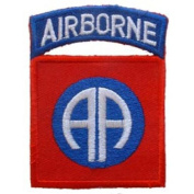 U.S. Army 82nd Airborne Patch Blue & Red 7.6cm