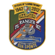 70 Year Anniversary - 75th Infantry Regiment - U.S. Army Ranger Embroidered Patch