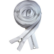 160cm Coat Lining Zipper ~ YKK #3 Coat Lining Separating Aluminium ~ White