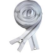 160cm Coat Lining Zipper ~ YKK #3 Coat Lining Separating Aluminium ~ White