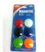 Deli Magnetic Button 30 mm Diameter, 6 Colours