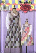 Simplicity Sewing Pattern 5821 Quilted Jumpers (Also Sold As 0619) - Girls/Misses Sizes 3-8, 4-18