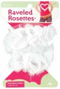 White Ravelled Rosettes Trim