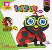 Fibre Craft - Creative Hands 3543E Text-Ur Foam Stand Up Kit, Ladybug