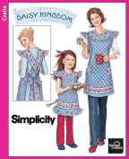 SIMPLICITY, 3701 , DAISY KINGDOM, MATCHING MOTHER DAUGHTER APRONS, SIZE A S-L, S-XL