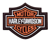 Harley-Davidson® Bar & Shield Embroidered Patch. 14cm W x 12cm H. EMB302383