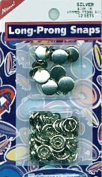 Capped Long-Prong Snaps Size 16 10/Pkg-Silver