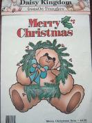 Daisy Kingdom 6430 Iron On Transfer Merry Christmas Bear