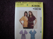 Kwik Sew Misses Tops Pattern 3603 XS-X-M-L-XL