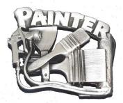 Painter Cut Out Pewter Belt Buckle