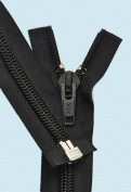 SALE 90cm Separating Zipper ~ YKK#10 Nylon Coil Zipper ~ 580 Black