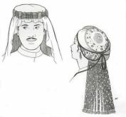 Hanida's & Hadhi's Headdresses Pattern