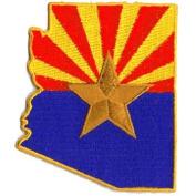 Arizona Flag (State Shaped)