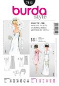 BURDA 7112 WEDDING DRESS / FORMAL LONG & SHORT STYLE W/ JACKET ~ SEWING PATTERN