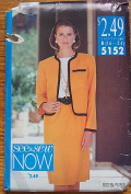 Butterick See & Sew 5152 Sewing Pattern, Misses' Jacket, Skirt & Top, Suit, Sizes 16-24