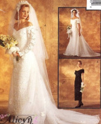 McCall's 7451 Misses' Bridal Gown and Bridesmaids' Dress, Size 6