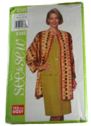 See & Sew by Butterick 5345 Misses Jacket,Top and Skirt Size B 14,16,18