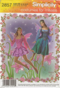 Simplicity 2857, Misses' Fairy Costume, Size RR(14-20), OOP, 2008