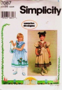 SIMPLICITY Sewing Pattern 7087 LITTLE GIRL DRESS & PURSE SEWING PATTERN SIZE 5, 6, 6X by Sunrise Designs