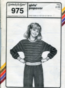 Stretch & Sew Pattern 975 ~ Girls' Popover Shirt ~ Chest 50cm - 80cm