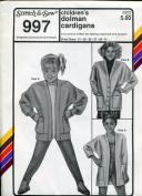 Stretch & Sew Pattern 997 ~ Children's Dolman Cardigan Sweaters