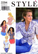 Style 2294 Sewing Pattern Misses Front Button Tops Size 8 - 18
