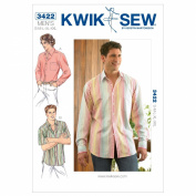 Kwik Sew K3422 Shirts Sewing Pattern, Size S-M-L-XL-XXL