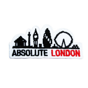 Absolute LONDON' Embroidered, Iron on Patches