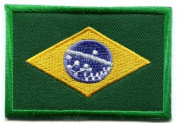 Brazilian Flag Brazil Applique Iron-on Patch New S-107 Handmade Design From Thailand