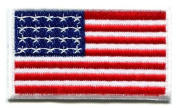 American Flag Old Glory Applique Iron-on Patch S-100 Handmade Design From Thailand