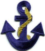Anchor Tattoo Navy Biker Retro Ship Boat Sea Sew Applique Iron-on Patch S-379 Handmade Design From Thailand