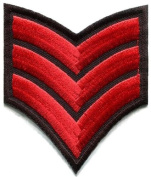 Army Navy Military Insignia Rank War Biker Retro Applique Iron-on Patch S-961 Handmade Design From Thailand