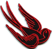 Bird Tattoo Swallow Dove Swiftlet Sparrow Biker Applique Iron-on Patch New S-357 Handmade Design From Thailand