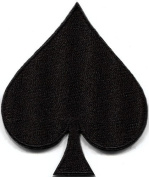 Black Spades Suit Playing Cards Biker Retro Poker Applique Iron-on Patch S-661 Handmade Design From Thailand