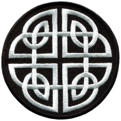 Celtic Knot Irish Goth Biker Tattoo Wicca Magic Applique Iron-on Patch New S-599 Handmade Design From Thailand