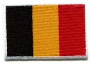 Flag of Belgium Belgian Applique Iron-on Patch New S-99 Handmade Design From Thailand