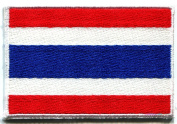 Flag of Thailand Thai Applique Iron-on Patch Sm. S-106 Handmade Design From Thailand