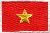 Flag of Vietnam Vietnamese Southeast Asia Applique Iron-on Patch Medium S-651 Handmade Design From Thailand