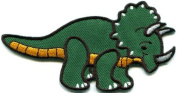 Triceratops Cretaceous Dinosaur Lizard Kids Fun Applique Iron-on Patch New S-576 Handmade Design From Thailand